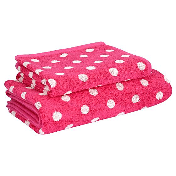 towel range fuschia spot towels bath mats asda direct. Black Bedroom Furniture Sets. Home Design Ideas
