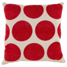 ASDA Chenille Spot Cushion - Red