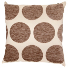 ASDA Chenille Spot Cushion - Pebble