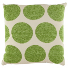 ASDA Chenille Spot Cushion - Green