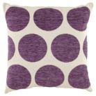 ASDA Chenille Spot Cushion - Plum