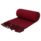 ASDA Herringbone Throw - Red