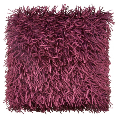 ASDA Shaggy Cushion - Plum