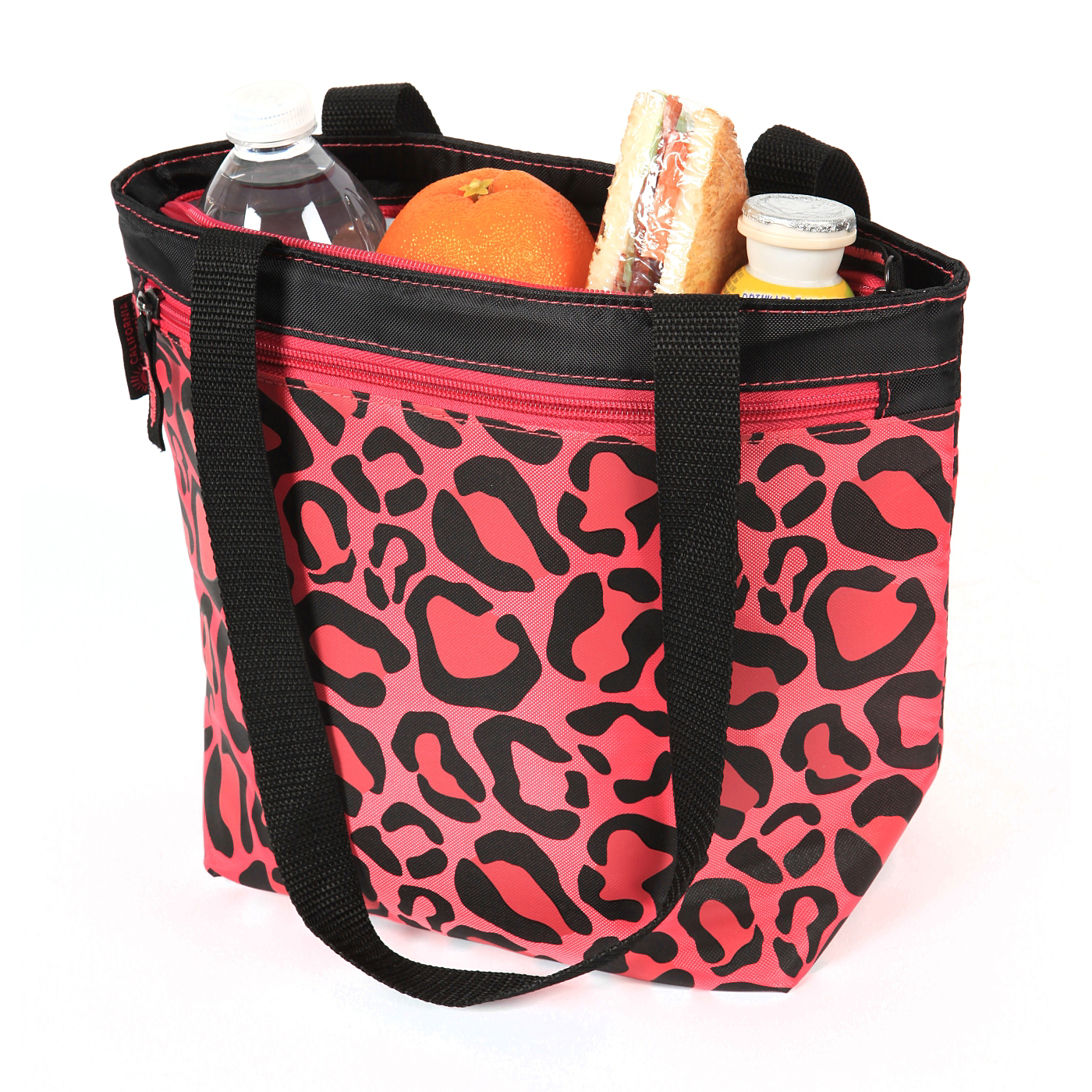 george home california innovations leopard lunch tote. Black Bedroom Furniture Sets. Home Design Ideas