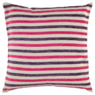 ASDA Chenille Stripe Cushion - Plum