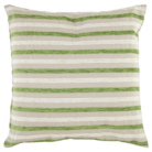 ASDA Chenille Stripe Cushion - Green