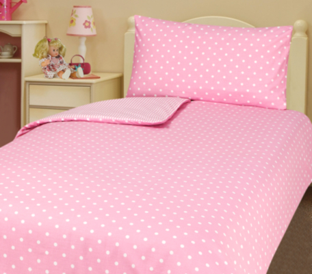 asda pink polka dot duvet cover pink review compare prices buy online. Black Bedroom Furniture Sets. Home Design Ideas