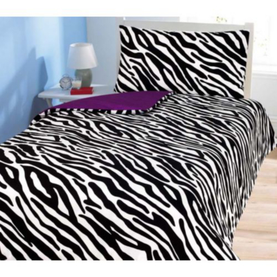 Black And White Zebra Duvet Cover and
