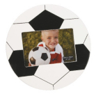 ASDA Football Shape Photo Frame - Black