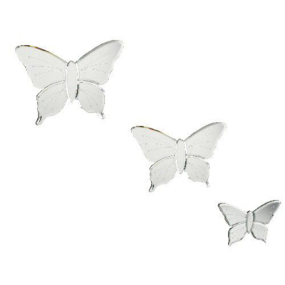 Butterfly Wall Mirrors - Set of 3, Mirror M310
