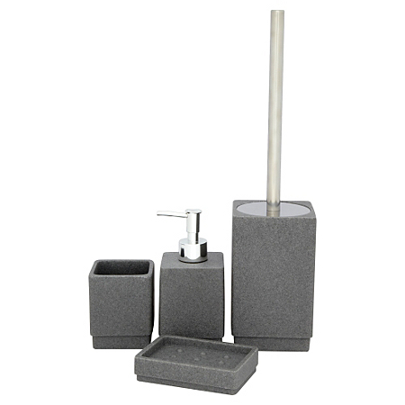 Bathroom range charcoal sandstone bathroom accessories for Charcoal bathroom accessories