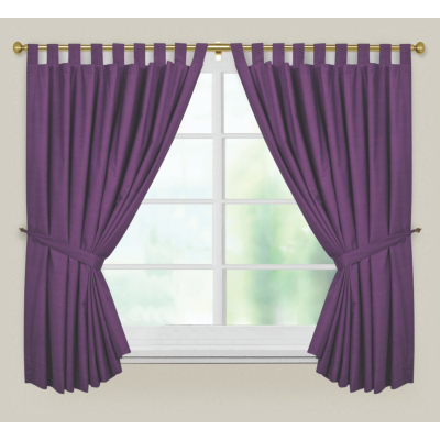 Purple Curtains - 54 x 66ins, Purple
