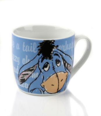 DISNEY Winnie the Pooh 12oz Squat Mug - Eeyore, Blue
