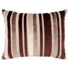 ASDA Velvet Stripe Cushion - Chocolate