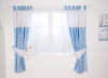 Red Kite Tab Top Curtains Hello Ernest Blue main view