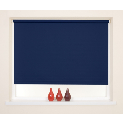 Navy Blackout Thermal Roller Blind  - 90x160cm, Blue.