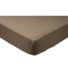 ASDA Non-Iron Fitted Bed Sheet - Mink, Various Sizes