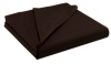 ASDA Non-Iron Flat Bed Sheet - Chocolate, Various Sizes main view