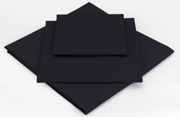 George Home Fitted Bed Sheet Black