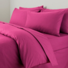 ASDA Flat Bed Sheet Fuchsia - Various Sizes