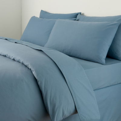 Duvet Cover Slate Blue - King, Blue