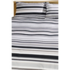 ASDA Twin Set Duvets Grey Stripe Block - Various Sizes