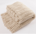 ASDA Natural Bed Throw - 130x170cm