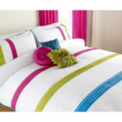 ASDA Pleat Duvet Set Brights - Various Sizes