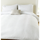 ASDA Emb Duvet Set White Seersucker - Various Sizes