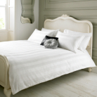 Elegant Living Duvet Set White Damask Stripe - Various Sizes