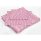 ASDA Fitted Sheet Pink Spotty - Various Sizes