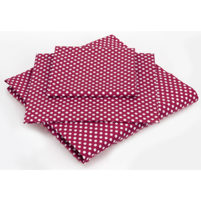 ASDA Fitted Sheet Red Spotty - Various Sizes