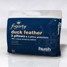 Fogarty Duck Feather Pillow Pair with Pillow Protectors
