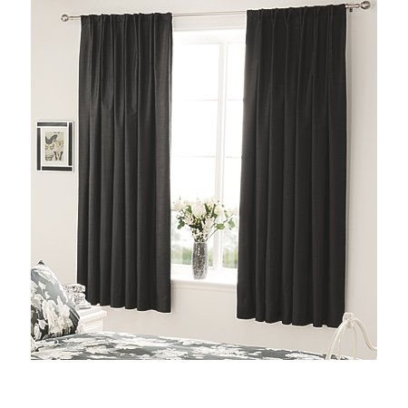 george home black faux silk bedroom curtains curtains asda direct