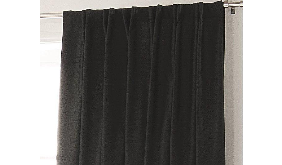 George home black faux silk bedroom curtains curtains george at asda