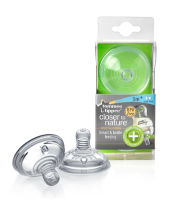 tommee tippee closer to nature Anti-Colic Plus Medium Flow Teats x2
