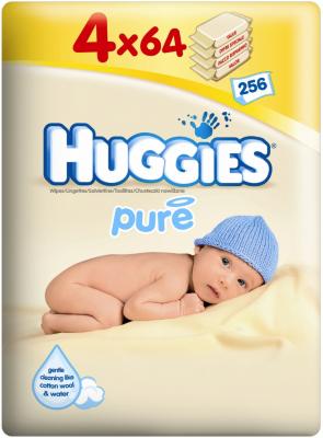 Huggies Pure Wipes Quad Pack 4 x 64