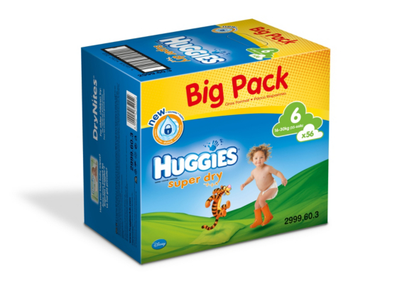 Huggies SuperDry Nappies Size 6 Big Pack - 56