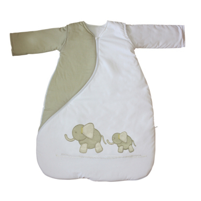 PurFlo Sleepsac with Embroidered Elephants 1 Tog 0-3 Months
