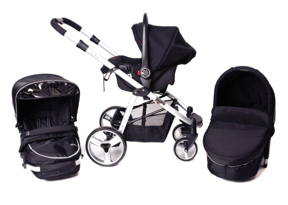 Red Kite Push Me Zebu 3-in-1 Stroller, Black Picture