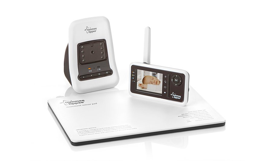 tommee tippee closer to nature video monitor monitors george at asda. Black Bedroom Furniture Sets. Home Design Ideas