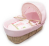 Tiny Ted Moses Basket In Pink main view