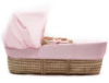 Tiny Ted Moses Basket In Pink alternative view