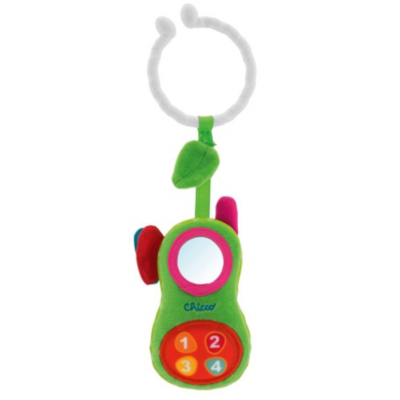 Chicco Soft Phone Rattle, Green