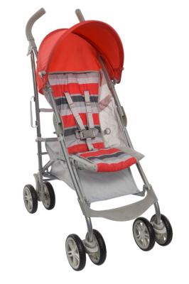 Graco Nimbly Pushchair, Red Grey Stripe Picture