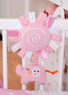 Red Kite Cot Pull Toy Hello Ernest Pink main view