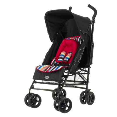 Obaby Atlas V2 Stroller - Red Stripe, Red Picture