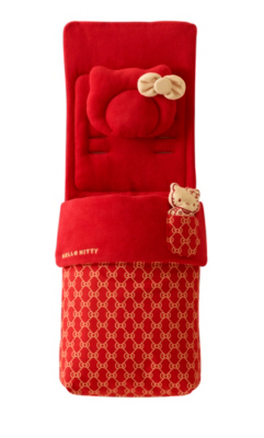 My First Hello Kitty Footmuff Red