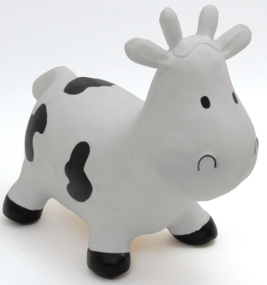 Happy Hopperz Baby Space Hopper - White Cow