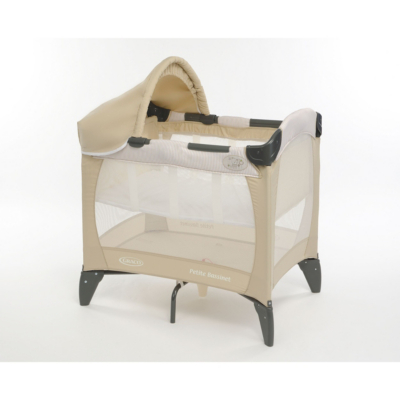 Graco Petite Bassinet Travel Cot Beige